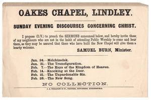 Oakes Chapel, Lindley