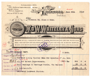 W. Whiteley & Sons Ltd. of Lockwood.