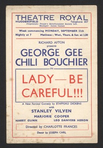 "Theatre Royal: ""Lady -- Be Careful!!!"""