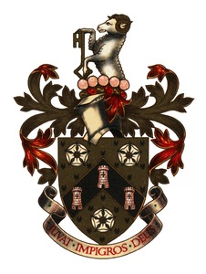 Coat of arms of the Huddersfield Building Socieity