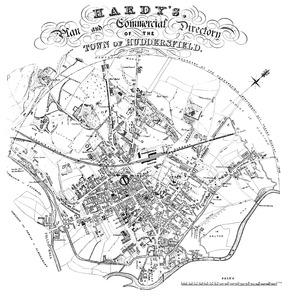 Hardy's 1850 Plan of Huddersfield