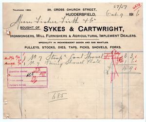 Sykes & Cartwright of Huddersfield.