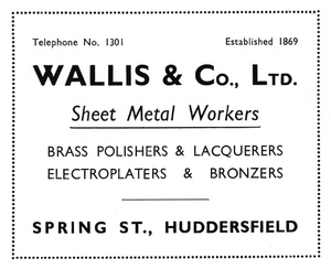 Wallis & Co. Ltd. (Established 1869)