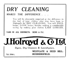 J. Holroyd & Co Ltd of Westgate and Seed Hill, Huddersfield.