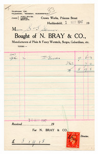N. Bray & Co. of Huddersfield.