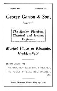George Garton & Son Ltd of Market Place and Kirkgate, Huddersfield.