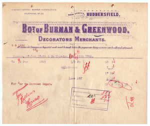 Burman & Greenwood of High Street, Huddersfield.