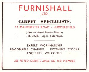 Furnishall Ltd., Manchester Road, Huddersfield (1952)