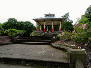 The new bandstand in Beaumont Park