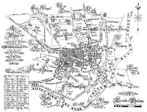 Crosland's 1826 map of Huddersfield