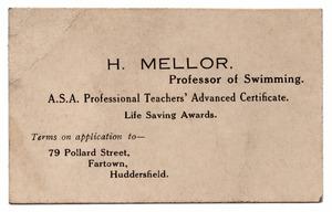 H. Mellor, Professor of Swimming