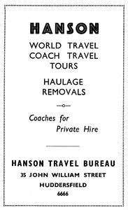 Hanson Travel Bureau