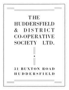 Huddersfield & District Co-operative Society Ltd.