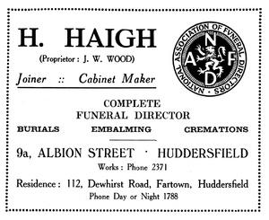 H. Haigh, Albion Street, Huddersfield