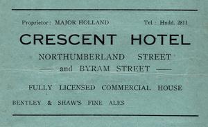 Crescent Hotel, Northumberland Street, Huddersfield