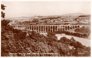 Lockwood Viaduct and Castle Hill, Huddersfield.