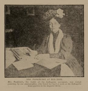 Mrs Pankhurst at Huddersfield - Leeds Mercury 23 November 1906.jpg