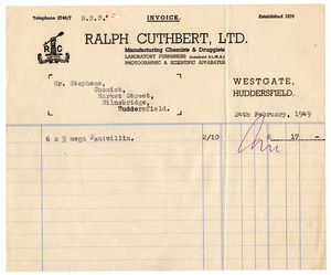Ralph Cuthbert Ltd. of Westgate, Huddersfield.