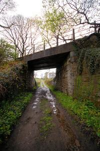 Meltham Branch Line bridge over bridleway.