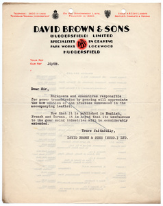 David Brown & Sons (Huddersfield) Limited.