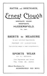 Ernest Clough of Westgate House, Westgate, Huddersfield.
