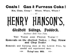 Henry Hanson, Gledholt Sidings