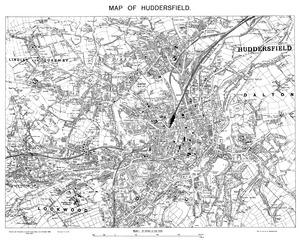 1919 Map of Huddersfield