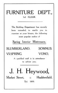 J.H. Heywood of Market Street, Huddersfield.