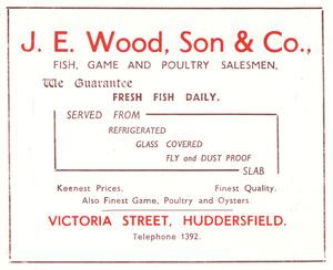 J.E. Wood, Son & Co., Victoria Street, Huddersfield (1952)