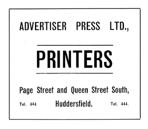 Advertiser Press Ltd of Page Street and Queen Street South, Huddersfield.