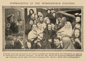 Suffragettes at the Huddersfield Election - Daily Mirror 26 November 1906.jpg