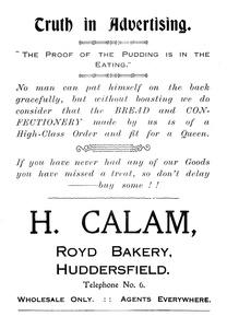 H. Calam, Royd Bakery