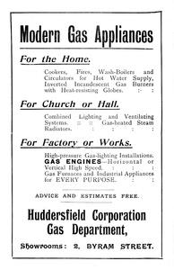 Huddersfield Corporation Gas Department