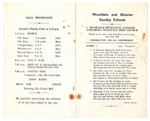 Wooldale and District Sunday Schools