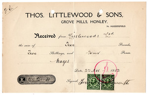 Thomas Littlewood & Sons of Grove Mills, Honley.