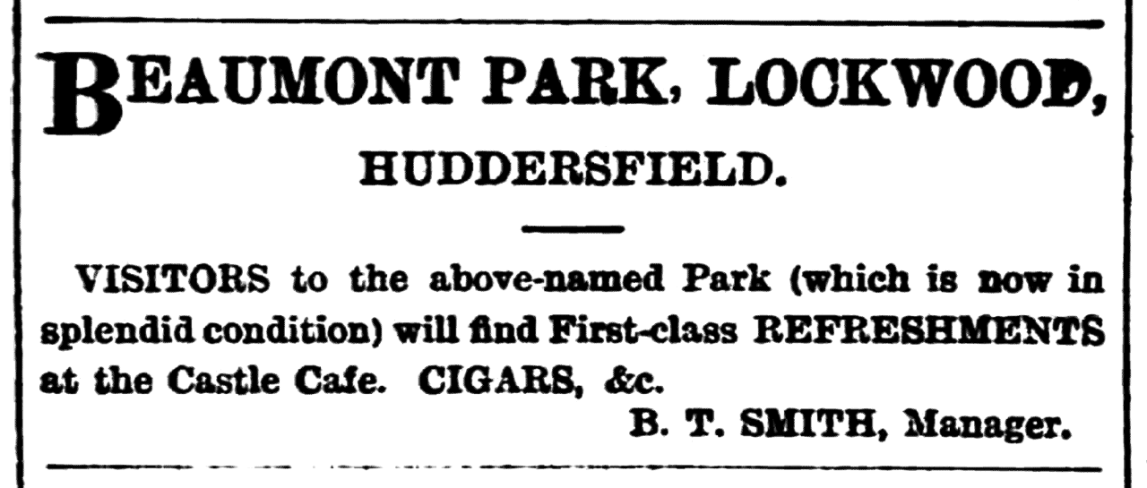 Huddersfield Chronicle 04 August 1900 - Castle Cafe.png