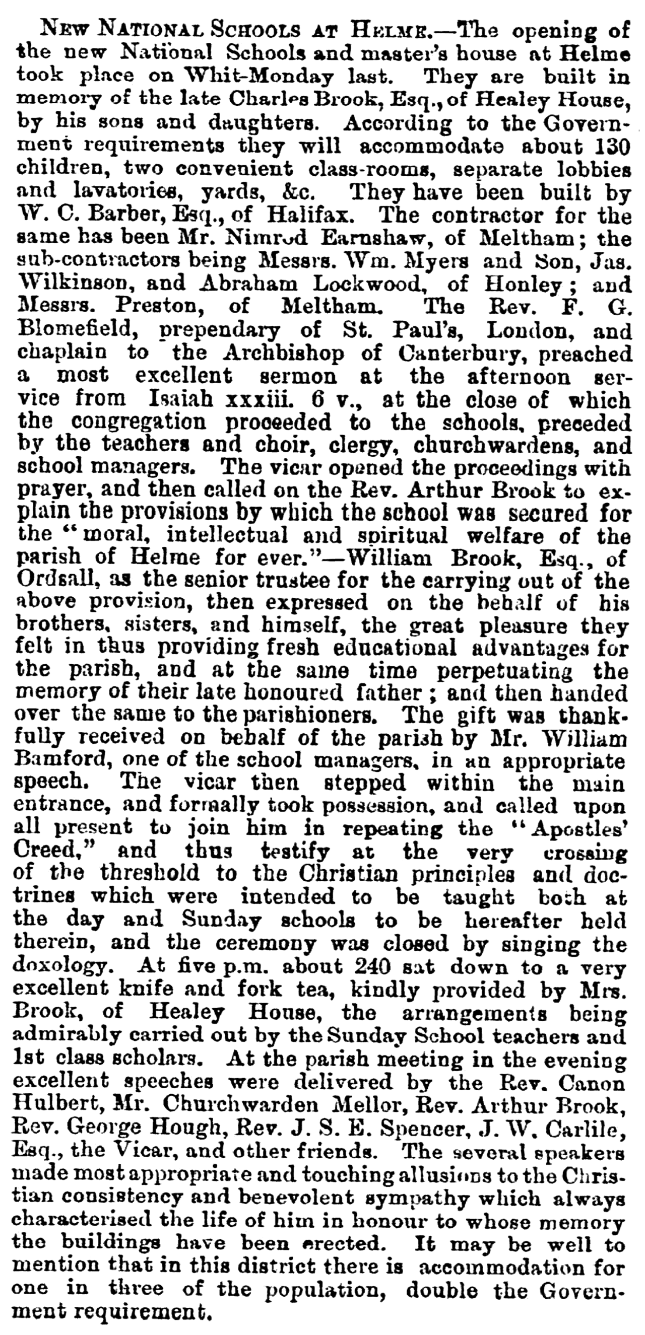 Huddersfield Chronicle 07 June 1873 - New National Schools at Helme.png