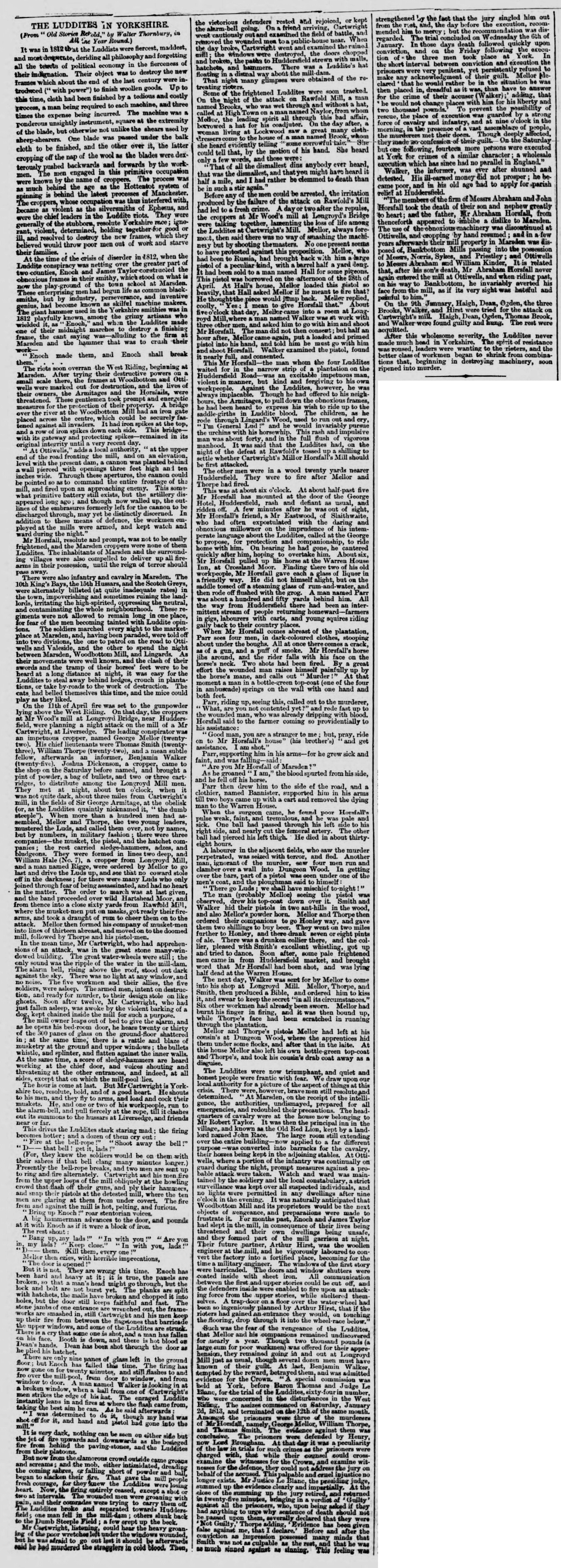 Yorkshire Post and Leeds Intelligencer 11 May 1867 The Luddites in Yorkshire.png