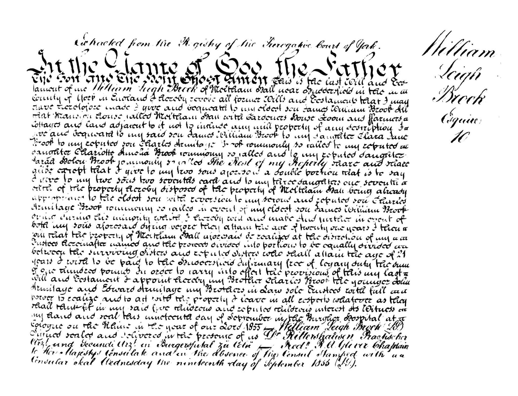 William Leigh Brook (1809-1855) - Last Will and Testament.png