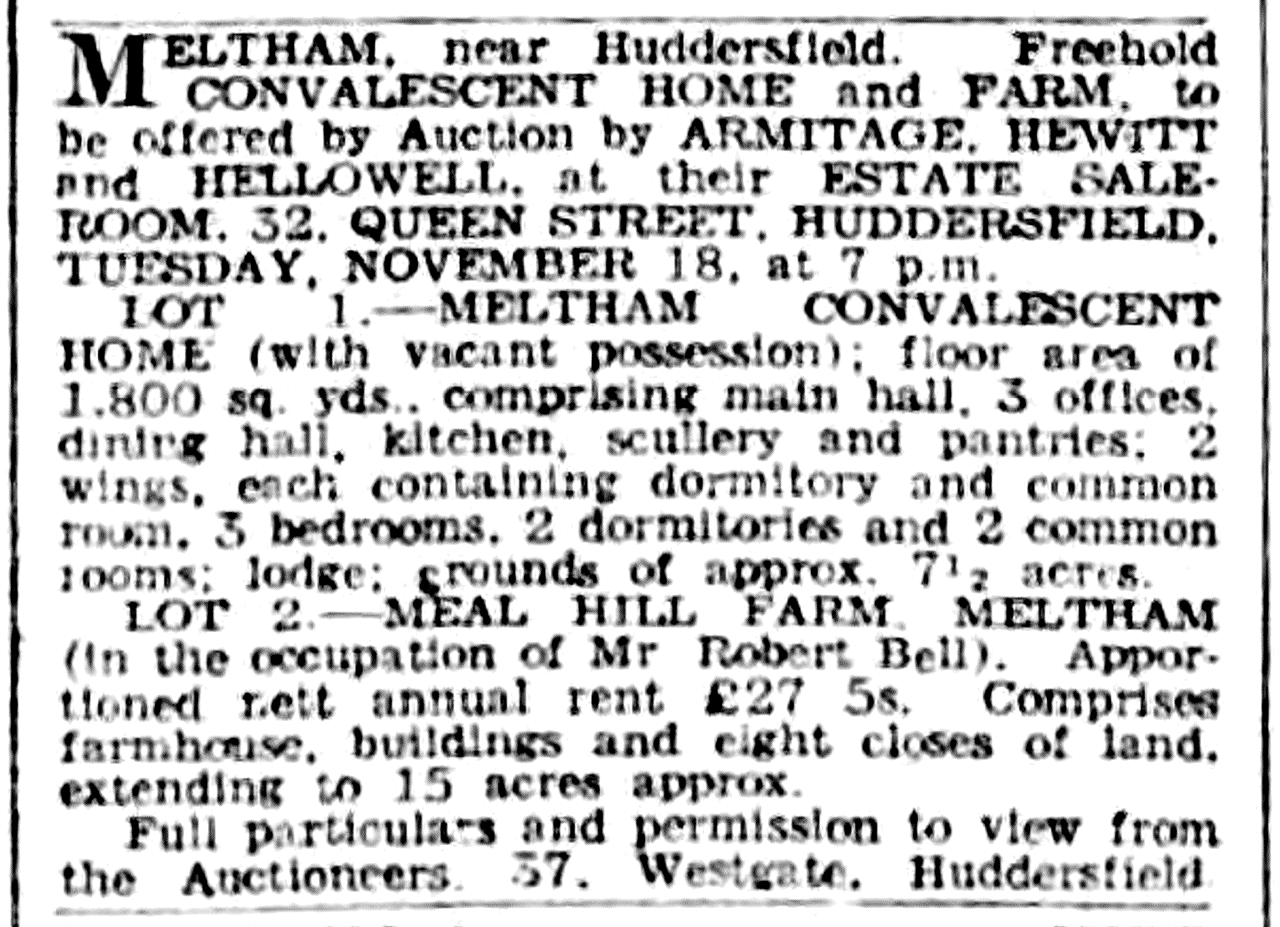 Yorkshire Post and Leeds Mercury 8 Nov 1947 - Sales by Auction.png