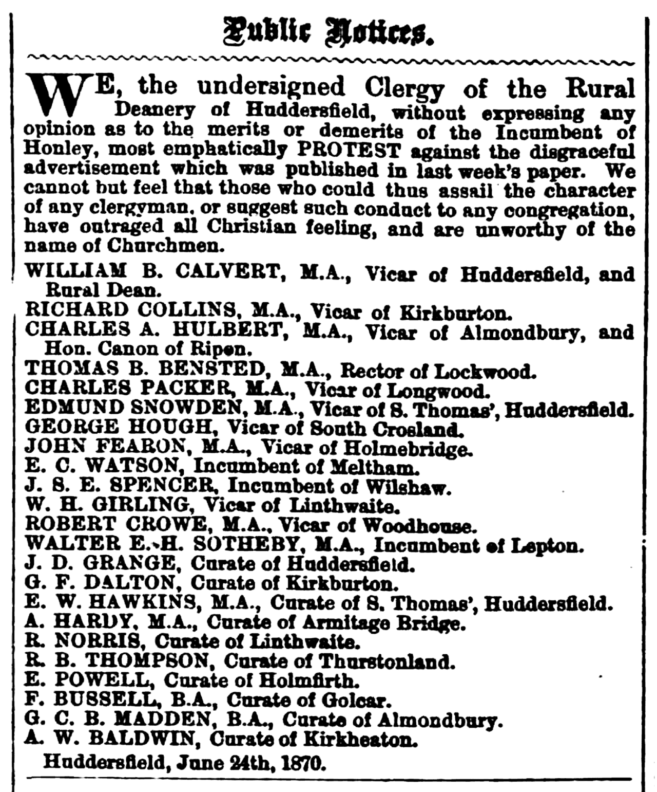 Huddersfield Chronicle 25 Jun 1870 - Public Notices.png
