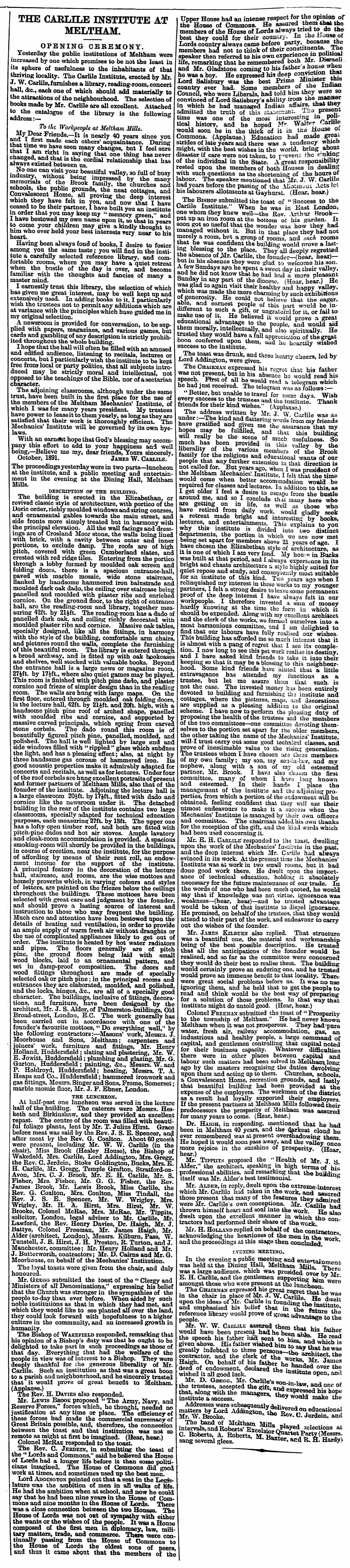 1891.10.17-Carlile-Institute-at-Meltham-Huddersfield-Chronicle-17-October-1891.png