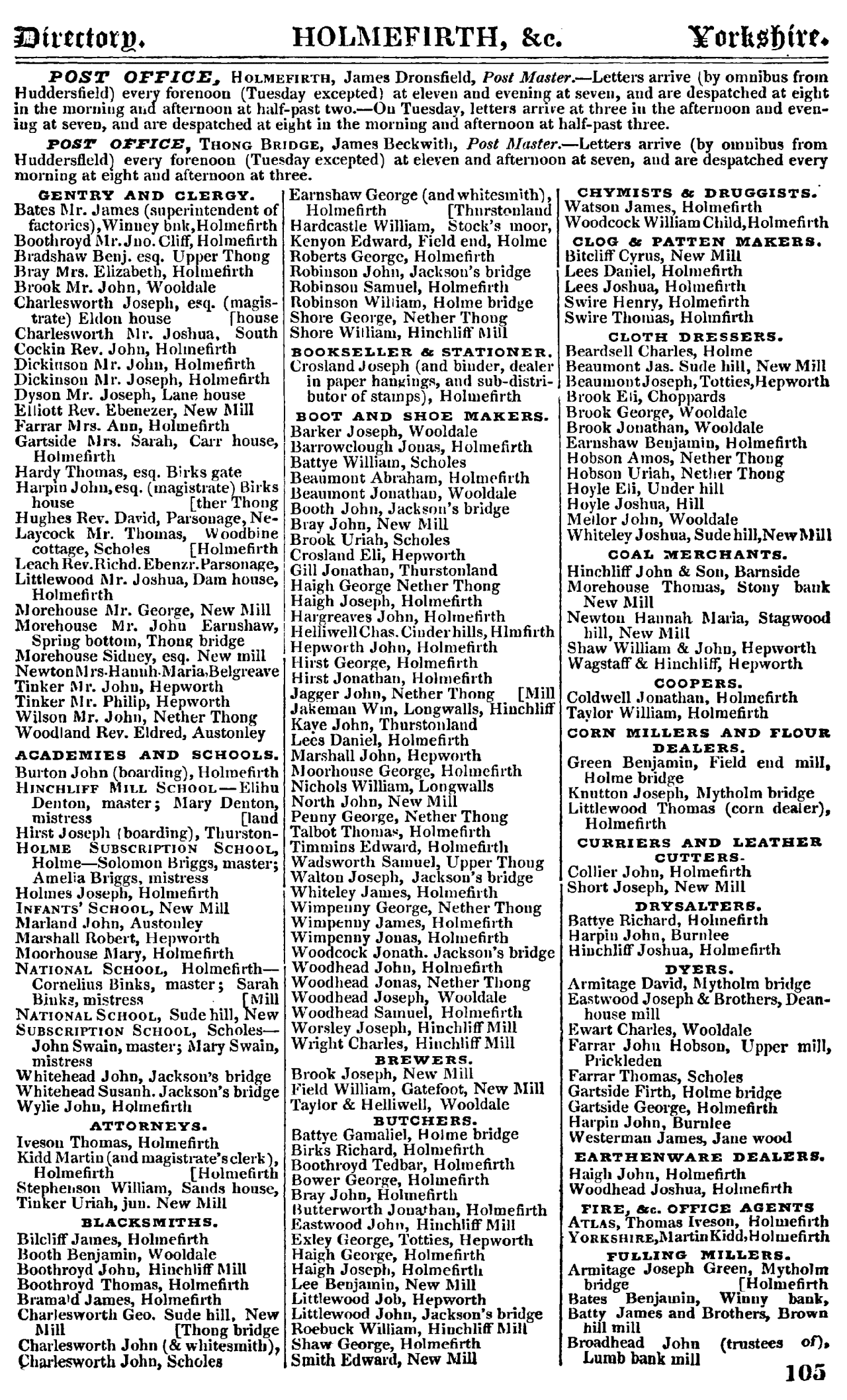 Pigot and Co.'s Royal National and Commercial Directory of August 1841 p105.png