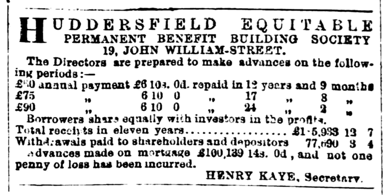 File:Huddersfield Chronicle 15 July 1876 Huddersfield Equitable Permanent Benefit Building Society.png