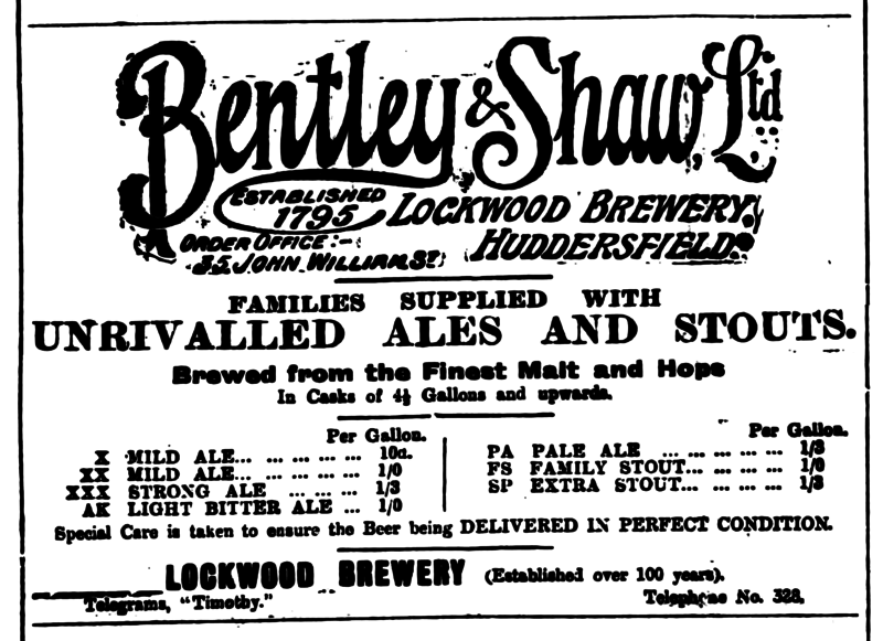 File:Huddersfield Daily Examiner 12 November 1914 - Bentley and Shaw.png