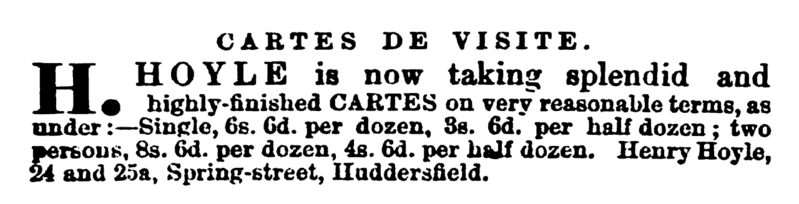 File:Henry Hoyle Huddersfield Chronicle 21 May 1870.png