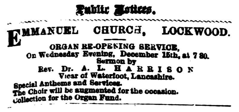 File:Huddersfield Daily Chronicle 15 December 1880 - Public Notice.png