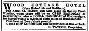Huddersfield Chronicle 19 Sep 1896 - Public Notices, Wood Cottage Hotel.png