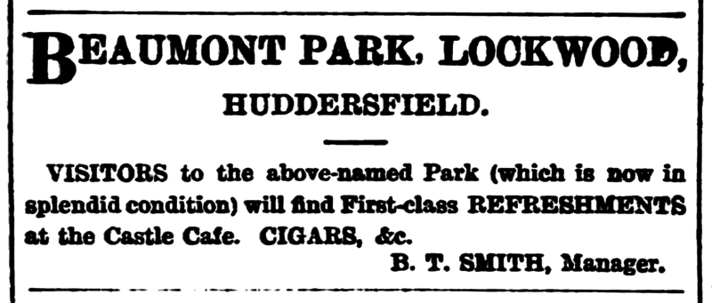 File:Huddersfield Chronicle 04 August 1900 - Castle Cafe.png