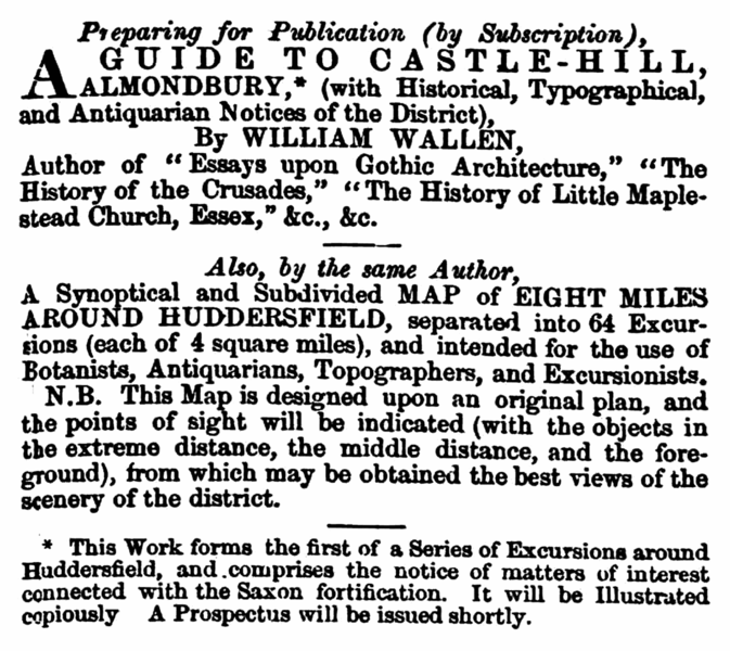 File:William Wallen - Huddersfield Chronicle 2 October 1852.png